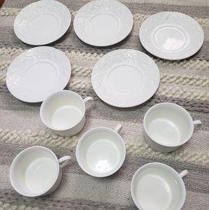 MIKASA English Countryside White Teacups Set